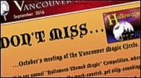Vancouver magic circle newsletters